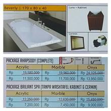 Bathtub long BEVERLY (paket whirlpool)