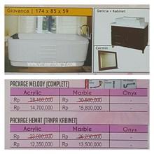 Bathtub standing GIOVANCA (Paket Hemat)