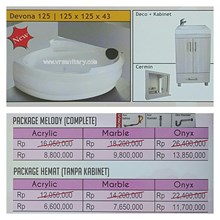 Bathtub corner DEVONA 125 (paket hemat)