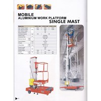 work platform single mast termurah di jakarta