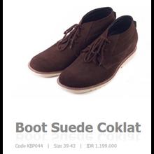 Boot Suede Coklat Code KBP044