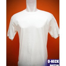 Kaos Polos Putih Pola Unisex