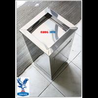 Tempat Sampah Kotak Stainless - Dustbin - Tong Sampah Kotak Stainless