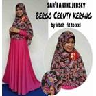 Baju Muslim Sar'i A Line Jersey Bergo Ceruty Kerang By Irbah..