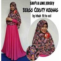 Jual Baju Muslim Sar'i A Line Jersey Bergo Ceruty Kerang by irbah fit to XXL