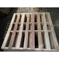 A Wooden Pallet With Couplers