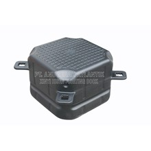 Cube Floating Plastic Hdpe Single Black-Modular Floating Dock System-Float-Plastic-Hdpe Pontoon Cube Float