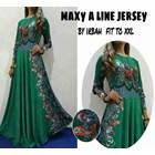 Baju Muslim Maxy A Line Jersey By Irbah Fit To XXL