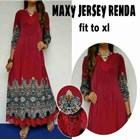 Baju Muslim maxy Jersey Renda Fit to XL