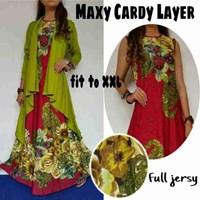 Jual Baju Muslim Maxy Cardy Layer Warna Pink