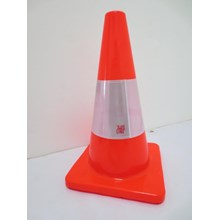 Keamanan jalan kendaraan Traffic cone 45cm bahan k