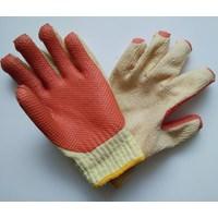 Jual Sarung tangan safety Rajut benang Lapis Latex tebal