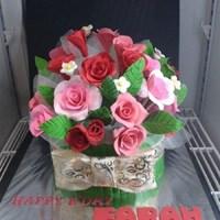 Jual kue buket bunga mawar