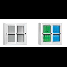 lemari sliding kaca setengah tinggi (Glass Sliding Door Cupboards Type ST015)