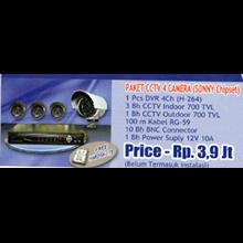 Paket CCTV 4 Kamera (Sonny Chipset)