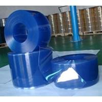 Jual PVC STRIP DOOR CURTAIN( TIRAI PLASTIK BLUE CLEAR)