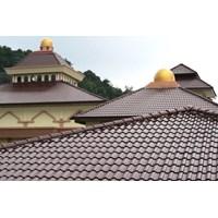 Jual Genteng Keramik maroon 10 pcs m2