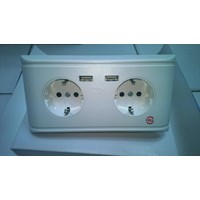 Sell STOP CONTACT PLUS USB 2 HOLES