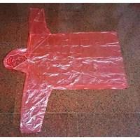 Jual Jas Hujan Plastik Merah