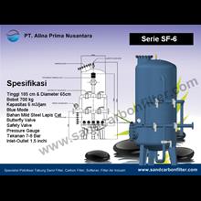 Tangki Sand Filter Dan Carbon Filter Kapasitas 4 M3 Per Jam