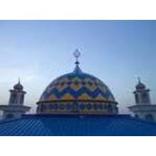 Konstruksi Baja WF Atap Masjid