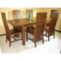 Teak dining table sets Minimalist Camelia Box 6 k