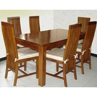 Teak dining table sets Minimalist Camelia Channel 6 k