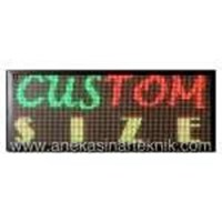 Jual Running Text LED Display Signboard Color