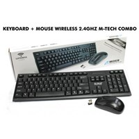 Jual KEYBOARD + MOUSE WIRELESS 2.4 GHZ M-TECH COMBO