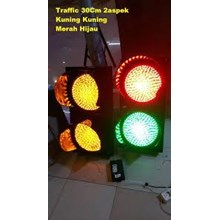 Spesifikasi Produk Lampu Traffic Light 2 Aspek Diameter 20Cm LED