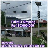 Jual Lampu Jalan PJU Traffic Light 4 Simpang