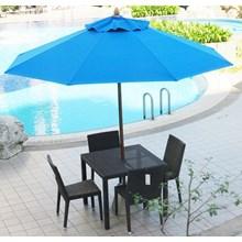 Kursi Makan Rotan Payung Taman
