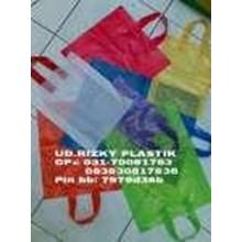 Shoft Handle Plastic Shopping Bag Motif