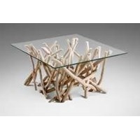 Jual Coffe Table Teak Branch With Glass