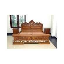 Bed Minimalist model furniture Jepara Carving YMJ-MM-150