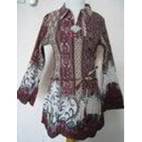 Blus Batik Plisket Dari Bahan Sandwosh