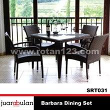 Barbara Dining Set Meja Makan Rotan Sintetis