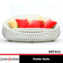 Synthetic Rattan Sofa Couch Valdo