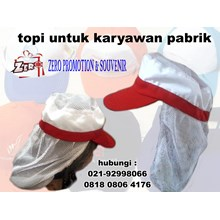 Production Of Pet Factory Employee Cap Topi Bun Production