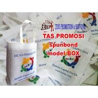 Jual Produksi Tas Spunbond model kotak  box  goodie bag promosi