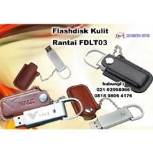 Usb Kulit Promosi - Flashdisk Kulit Rantai FDLT03