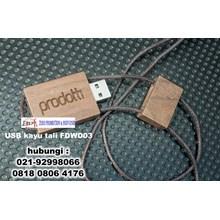 USB kayu tali FDWD03 Flashdisk Kayu Tambang