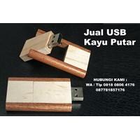 Jual USB Kayu Putar Flashdisk kayu Putar