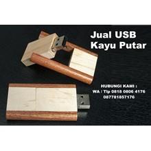 USB Kayu Putar Flashdisk kayu Putar