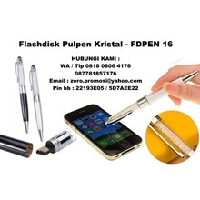 Flashdisk pen KRISTAL Flashdisk Pulpen Art FDPEN16