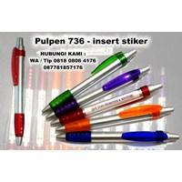 Jual pen plastik insert paper 736 pulpen promosi 736