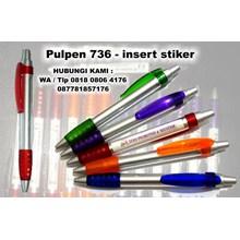pen plastik insert paper 736 pulpen promosi 736