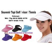 Produksi Topi model visor golf Barang Promosi Peru