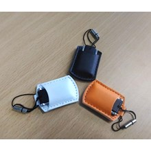 USB Leather Pouch FDLT28 - USB FLASH DISK MURAH