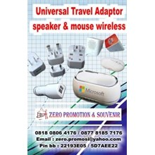Souvenir Universal Travel Adaptor speaker mouse wi